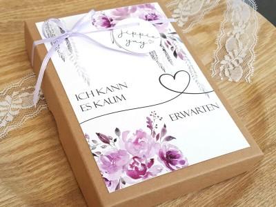 """Geschenkschachtel """"Schwangerschaft"""" Purple Bloom - 2"""