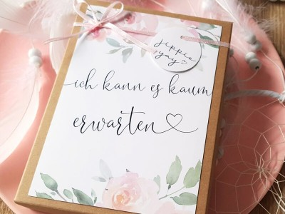 """Geschenkschachtel """"Schwangerschaft"""" Roses - 3"""