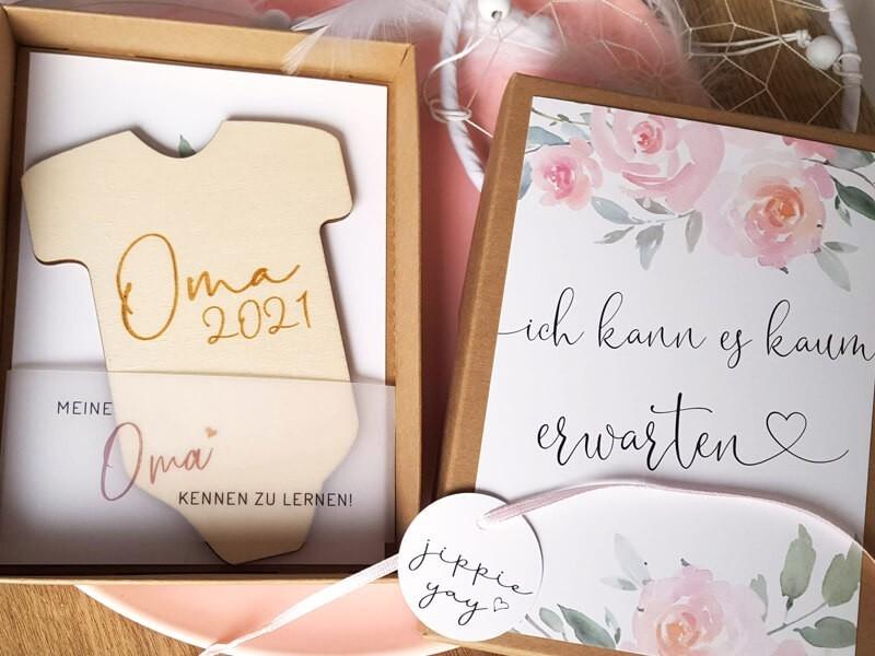 """Geschenkschachtel """"Schwangerschaft"""" Roses - 1"""