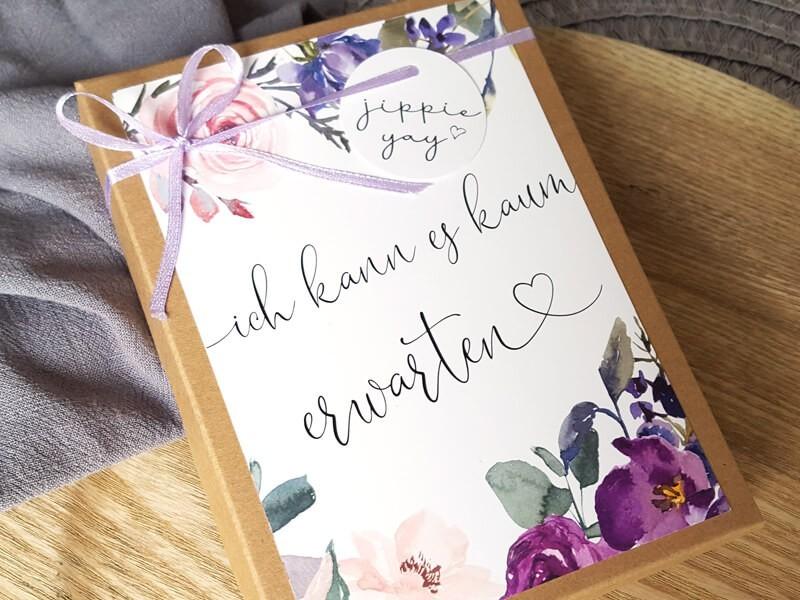 """Geschenkschachtel """"Schwangerschaft"""" Blossom - 1"""
