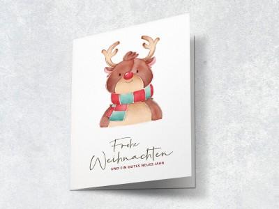 Weihnachtskarte Rentier - 2