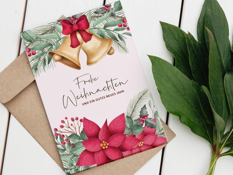Weihnachtskarte Glöckchen - 1