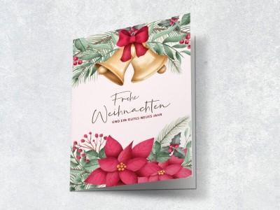 Weihnachtskarte Glöckchen - 2