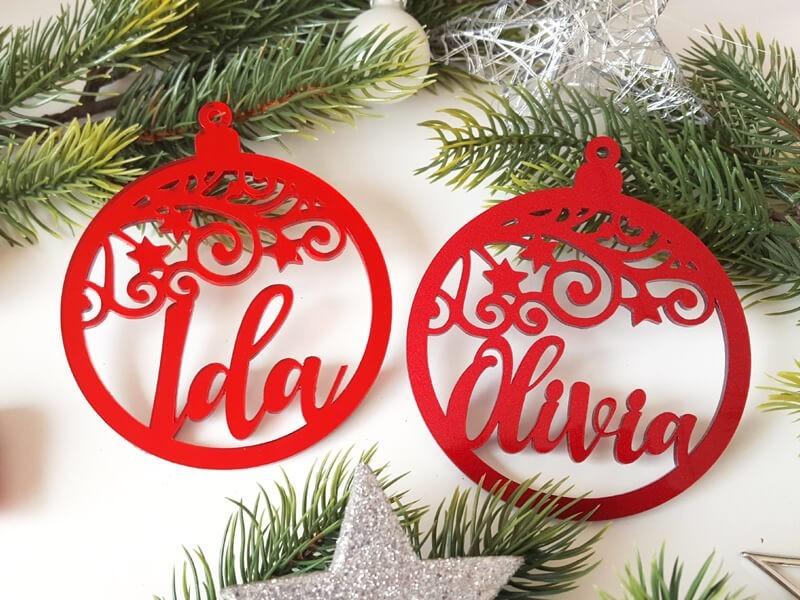 """Weihnachtskugel """"Swirl"""" - 1"""