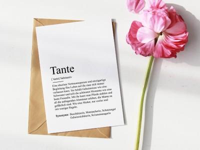 "Karte ""Tante"" Definition - 1"