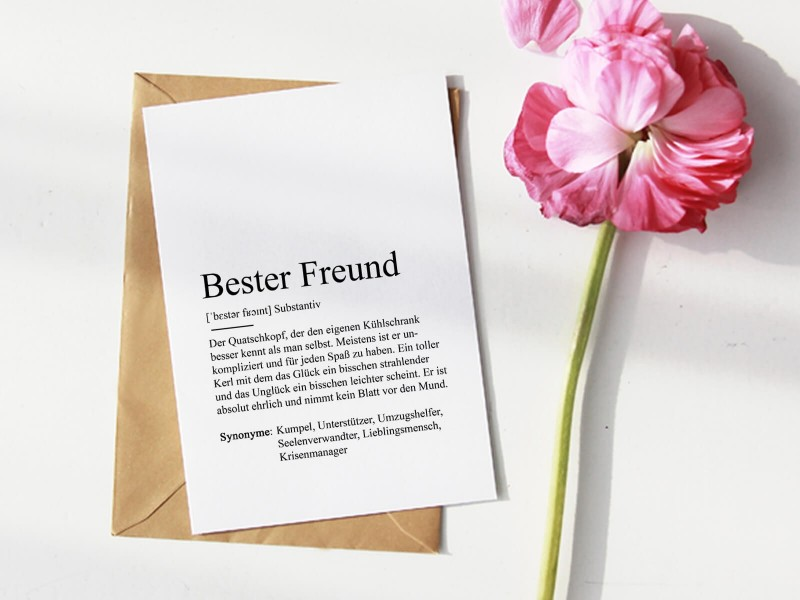"Karte ""Bester Freund"" Definition - 1"