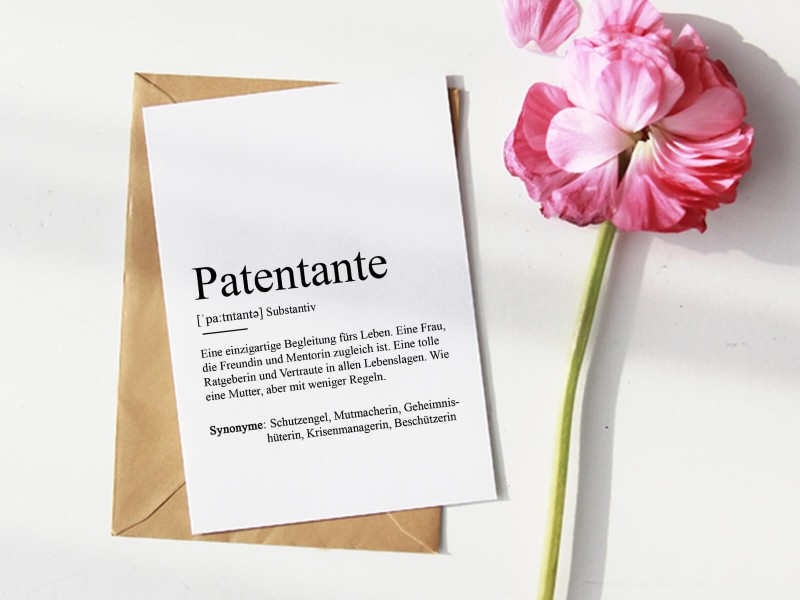"Karte ""Patentante"" Definition - 1"