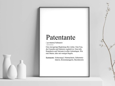 "Poster ""Patentante"" Definition - 2"