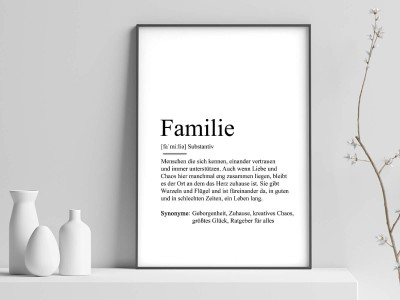 "Poster ""Familie"" Definition - 1"