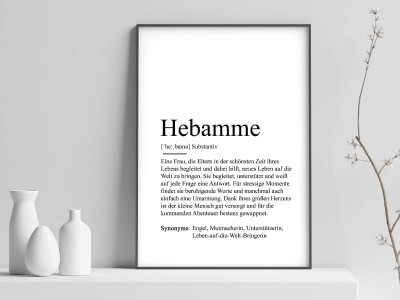 "Poster ""Hebamme"" Definition - 1"