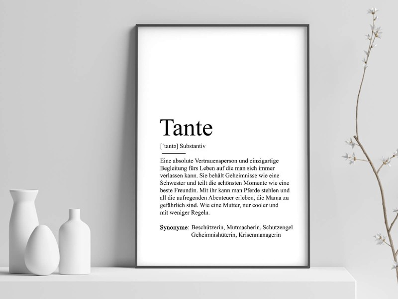 "Poster ""Tante"" Definition - 1"