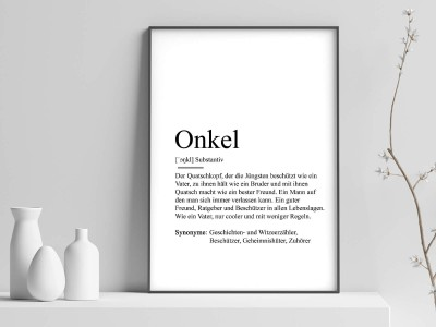 "Poster ""Onkel"" Definition - 1"