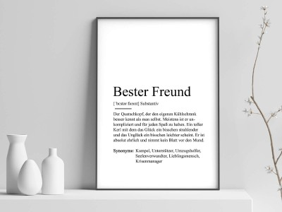 "Poster ""Bester Freund"" Definition - 1"