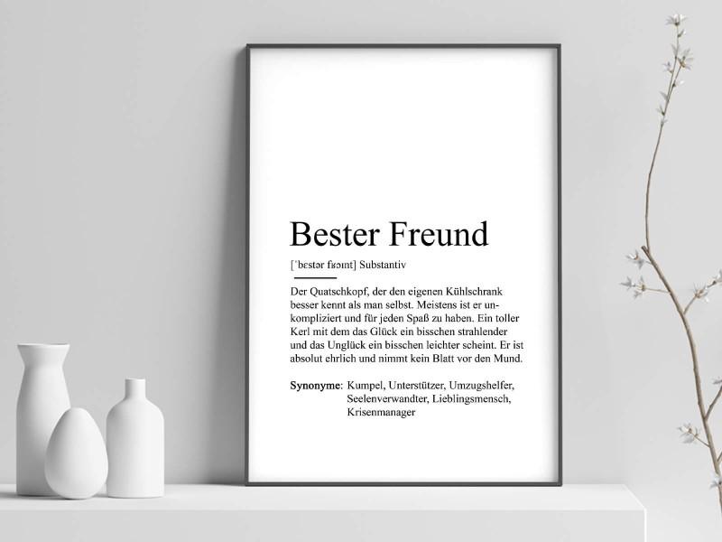 """Poster """"Bester Freund"""" Definition - 1"""