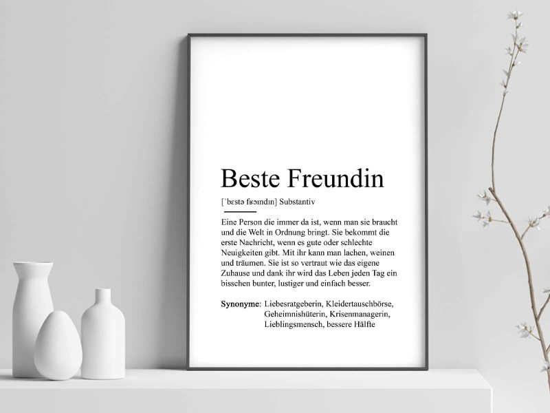 "Poster ""Beste Freundin"" Definition - 1"