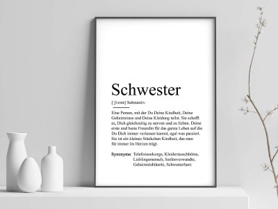 "Poster ""Schwester"" Definition - 1"