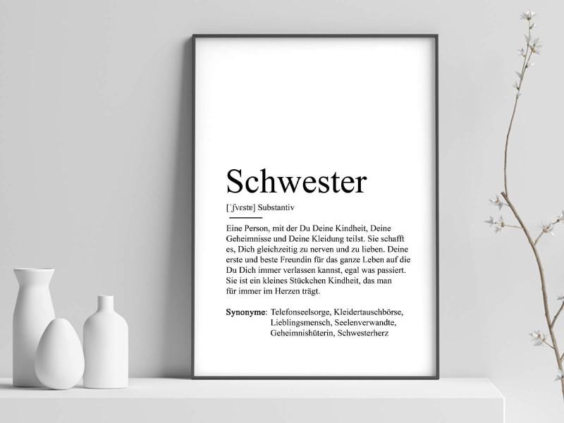 """Poster """"Schwester"""" Definition - 1"""