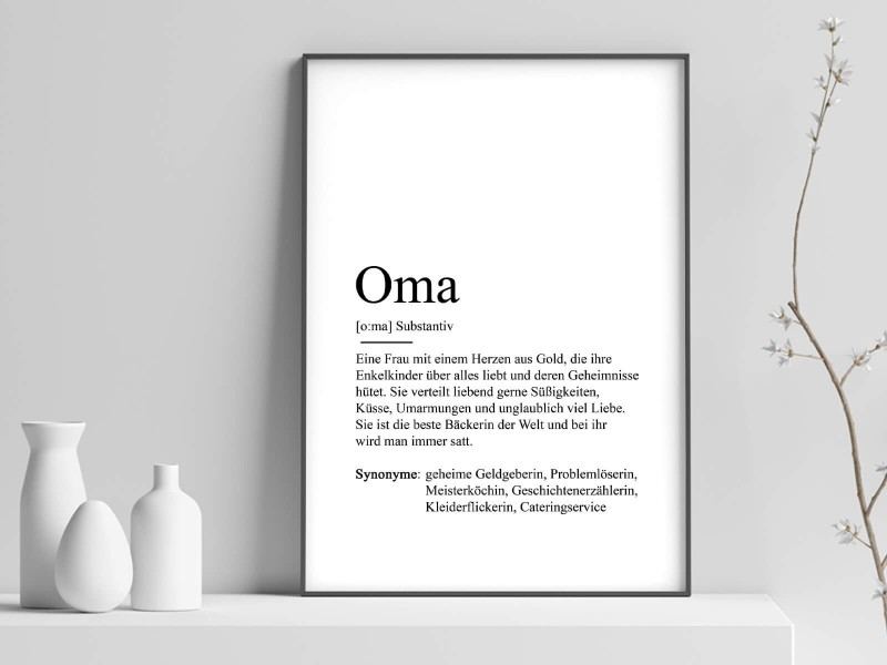 "Poster ""Oma"" Definition - 1"