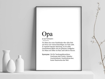"Poster ""Opa"" Definition - 1"