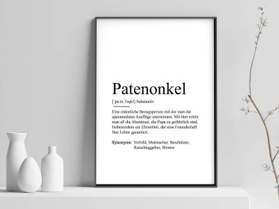 "Poster ""Patenonkel"" Definition - 1"