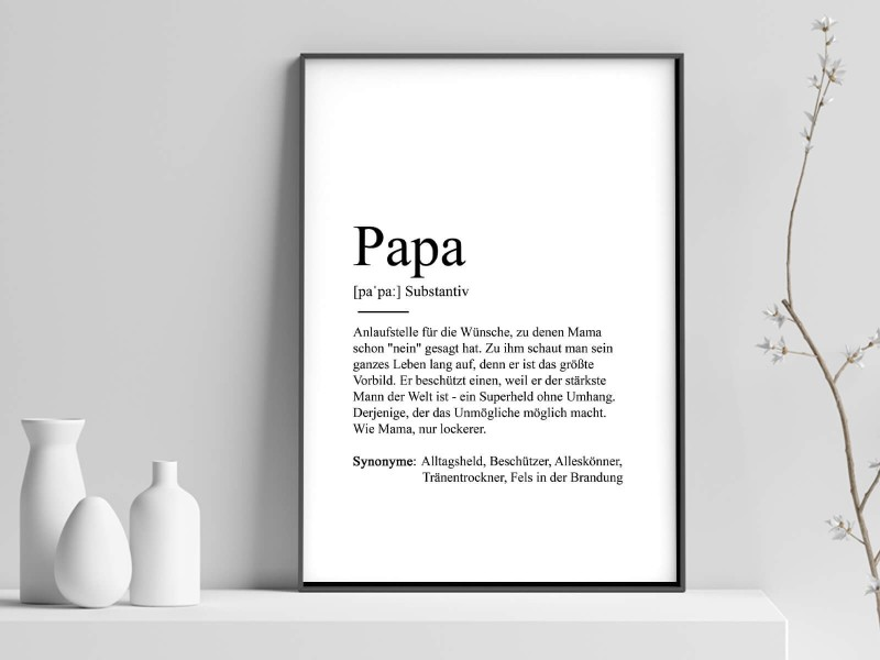 "Poster ""Papa"" Definition - 1"