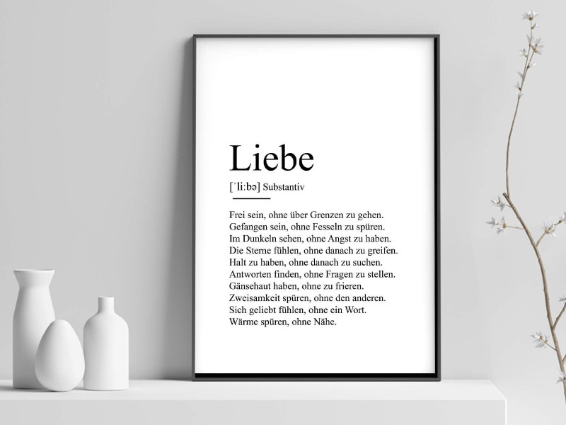 "Poster ""Liebe"" Definition - 1"