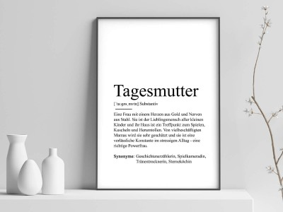 "Poster ""Tagesmutter"" Definition - 1"