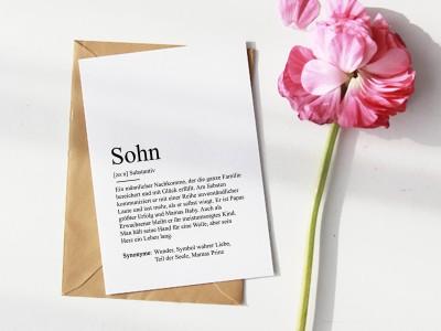 """Karte """"Sohn"""" Definition - 1"""