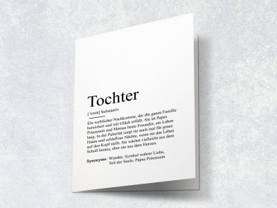 "Karte ""Tochter"" Definition - 2"