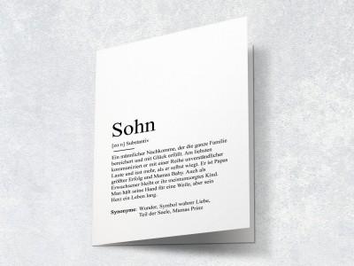 """Karte """"Sohn"""" Definition - 2"""