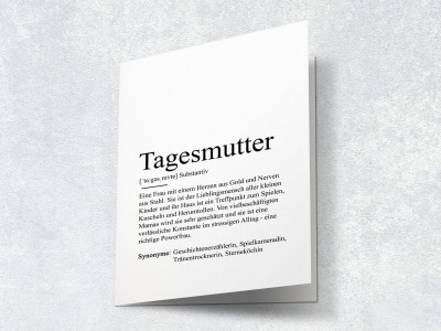 "Karte ""Tagesmutter"" Definition - 2"