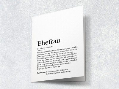 "Karte ""Ehefrau"" Definition - 2"