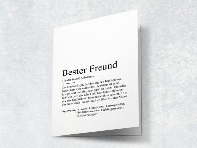 """Karte """"Bester Freund"""" Definition - 2"""