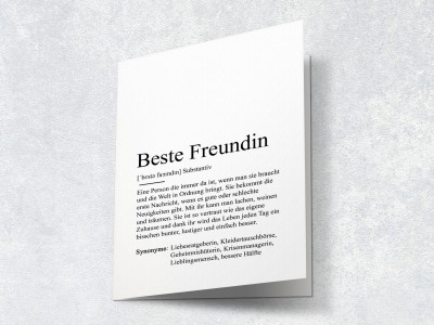 "Karte ""Beste Freundin"" Definition - 2"