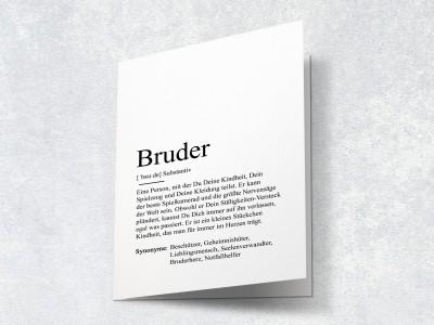 """Karte """"Bruder"""" Definition - 2"""