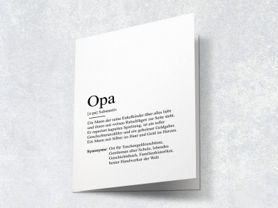 "Karte ""Opa"" Definition - 2"