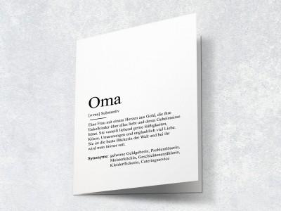 """Karte """"Oma"""" Definition - 2"""