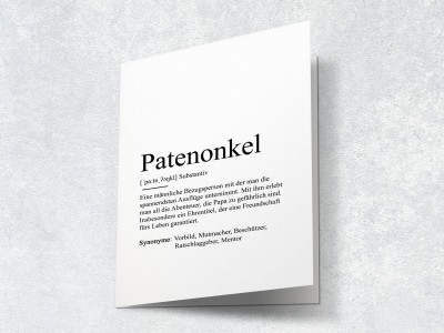 "Karte ""Patenonkel"" Definition - 2"