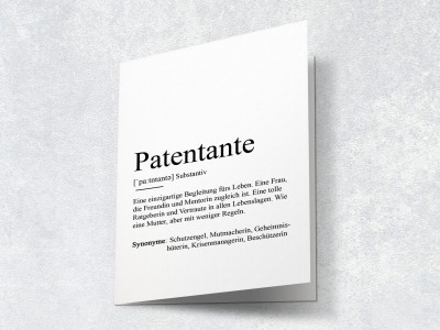 "Karte ""Patentante"" Definition - 2"