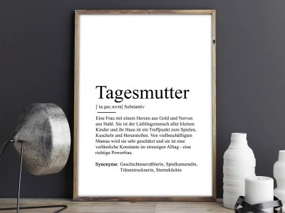 "Poster ""Tagesmutter"" Definition - 2"