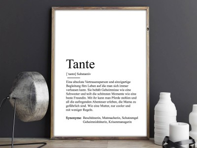 "Poster ""Tante"" Definition - 2"