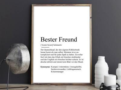 """Poster """"Bester Freund"""" Definition - 2"""