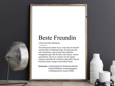 "Poster ""Beste Freundin"" Definition - 2"