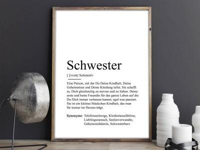 """Poster """"Schwester"""" Definition - 2"""