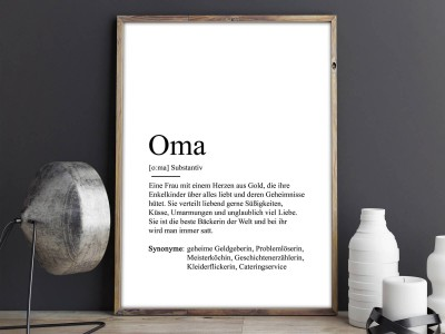 "Poster ""Oma"" Definition - 2"