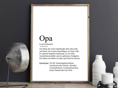 "Poster ""Opa"" Definition - 2"
