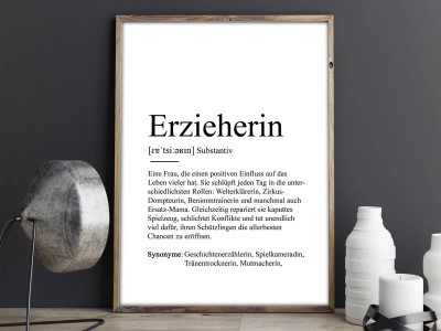 "Poster ""Erzieherin"" Definition - 2"