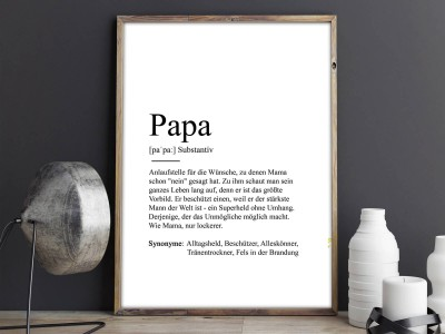 "Poster ""Papa"" Definition - 2"