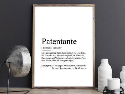 "Poster ""Patentante"" Definition - 2"