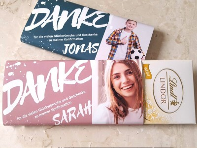"Schokoladenbanderole ""Sarah"" - 6"